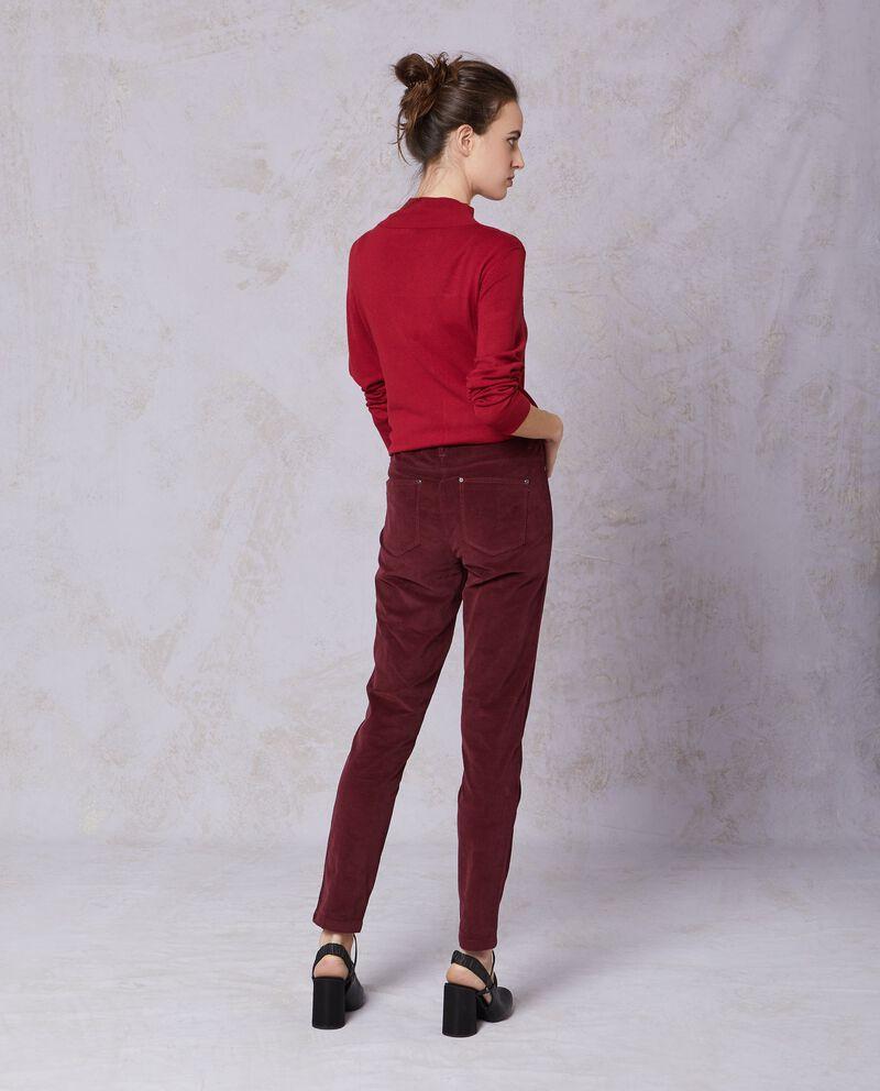 Pantaloni velluto tinta unita