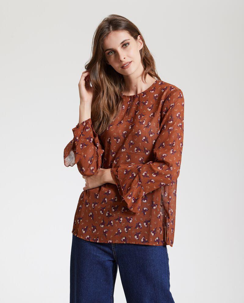 Camicia con fantasia floreale donna