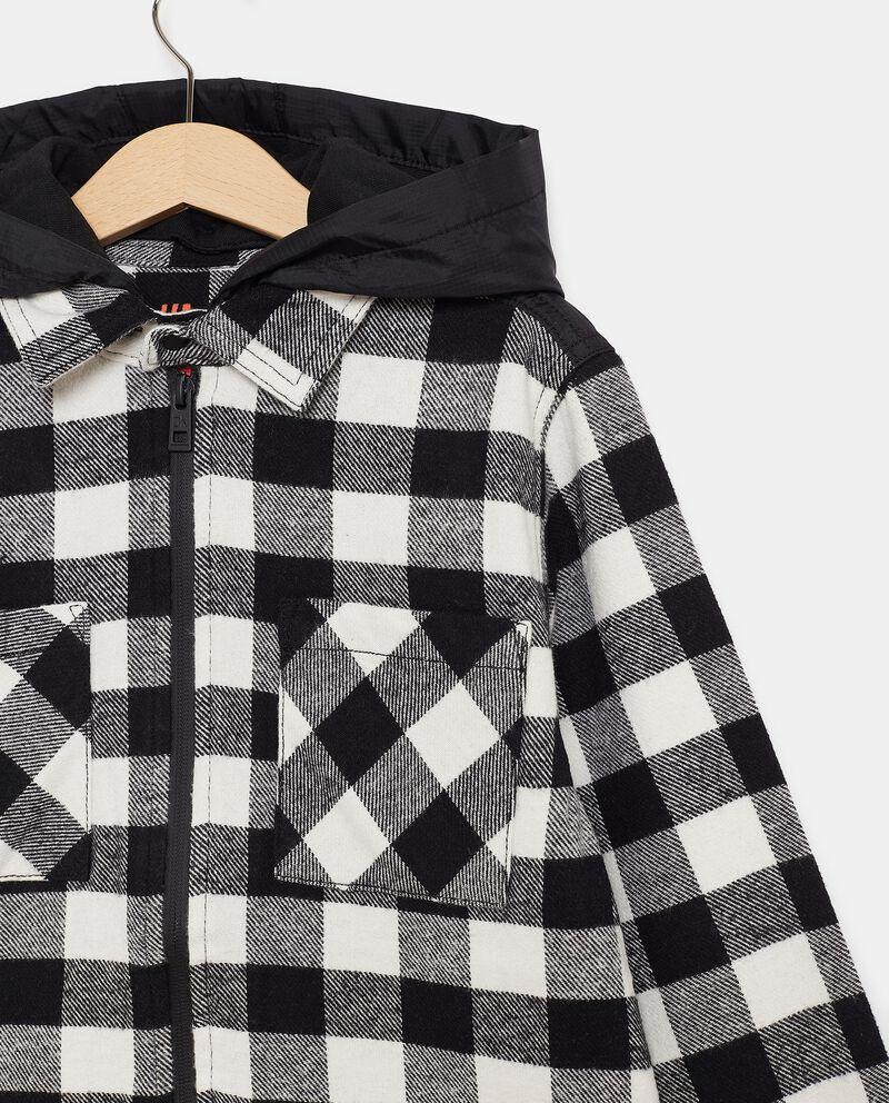Camicia in flanella con cappuccio staccabile ragazzo single tile 1