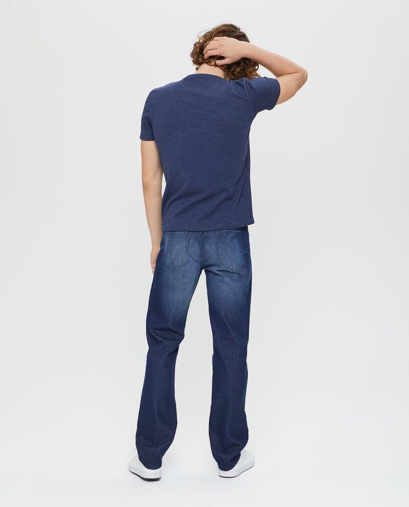 T-shirt con scollo rotondo e stampa