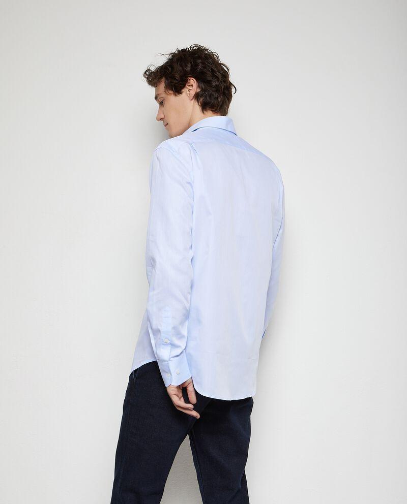 Camicia tinta unita puro cotone uomodouble bordered 1
