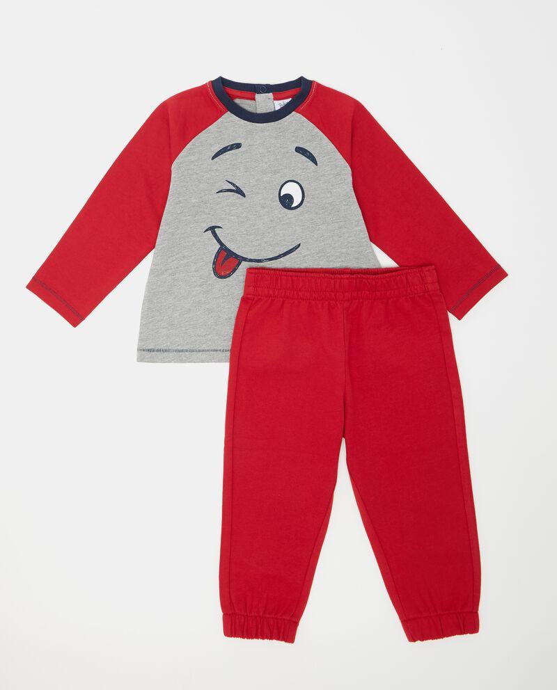 Set t-shirt e pantaloni tinta unita neonato