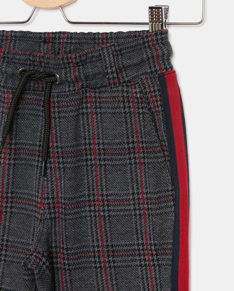 Pantaloni con fantasia a quadri bambino