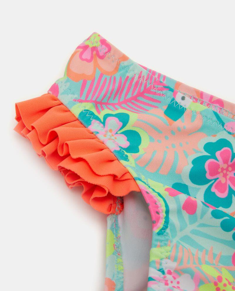 Slip costume con fantasia tropicale