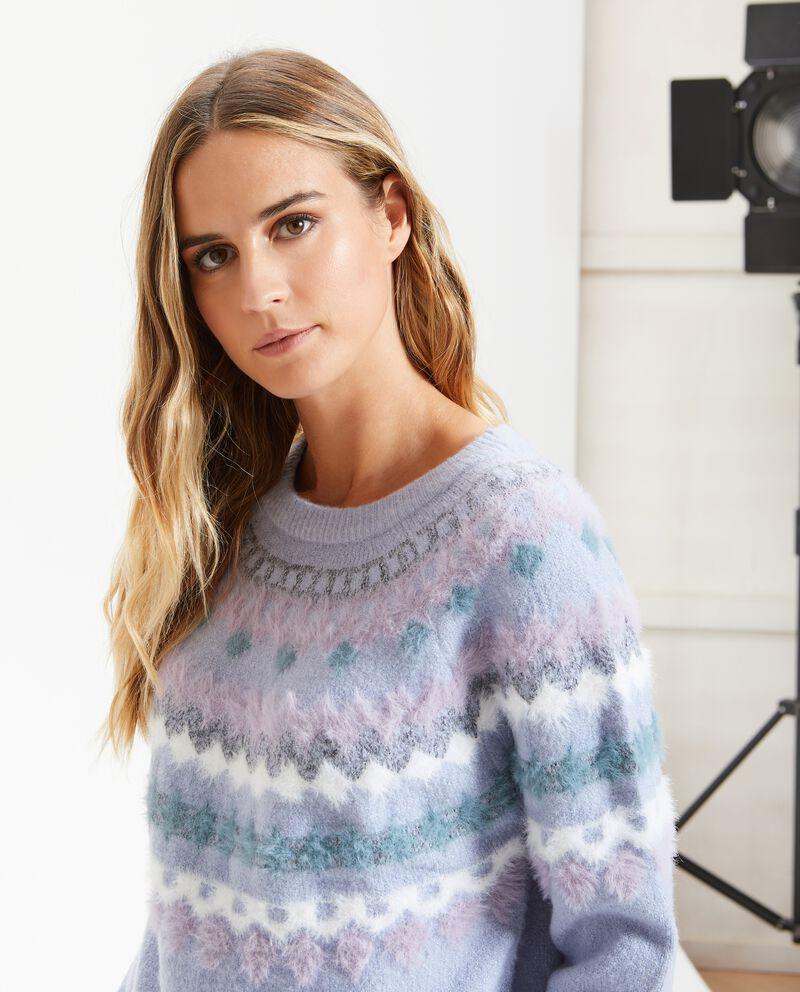 Maglione con fantasie donna