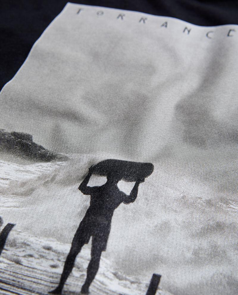 T-shirt in puro cotone con stampa surf uomo