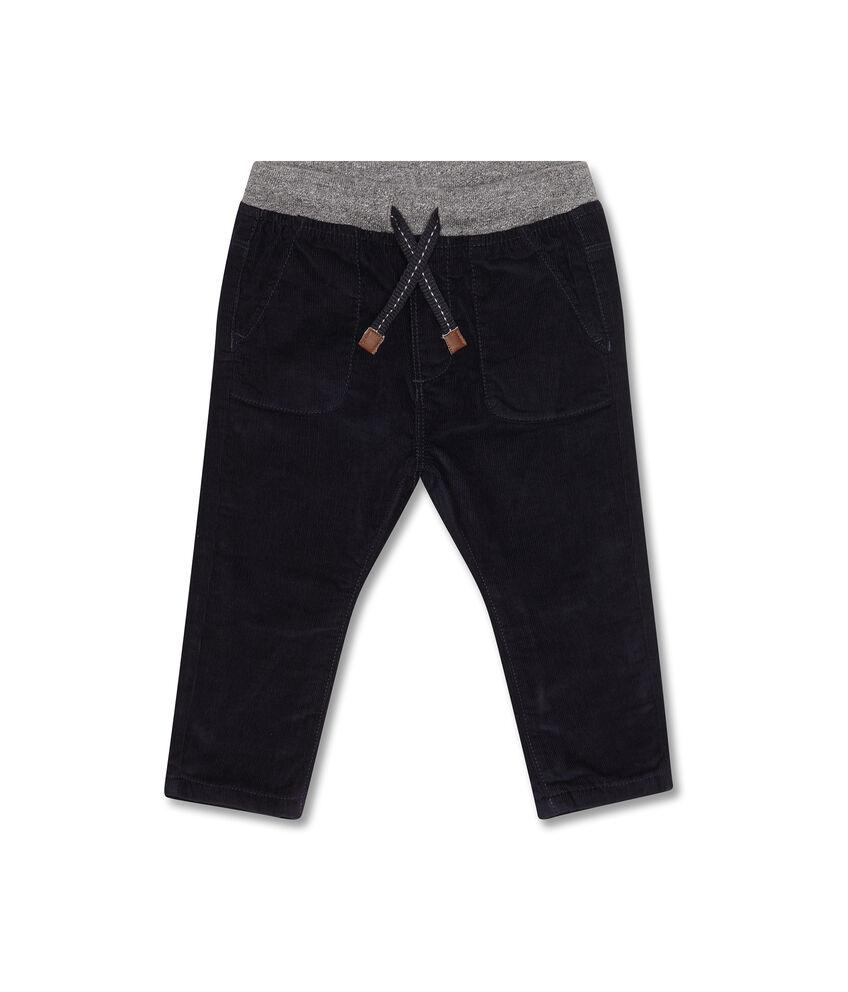 Pantaloni in cotone vita a contrasto
