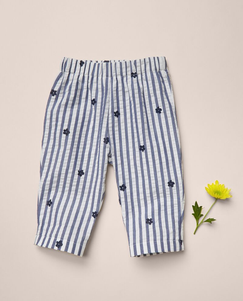 Pantaloni di puro cotone rigati MADE IN ITALY