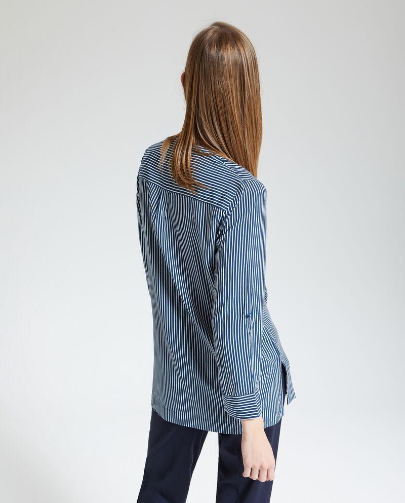 Blusa colletto coreano donna