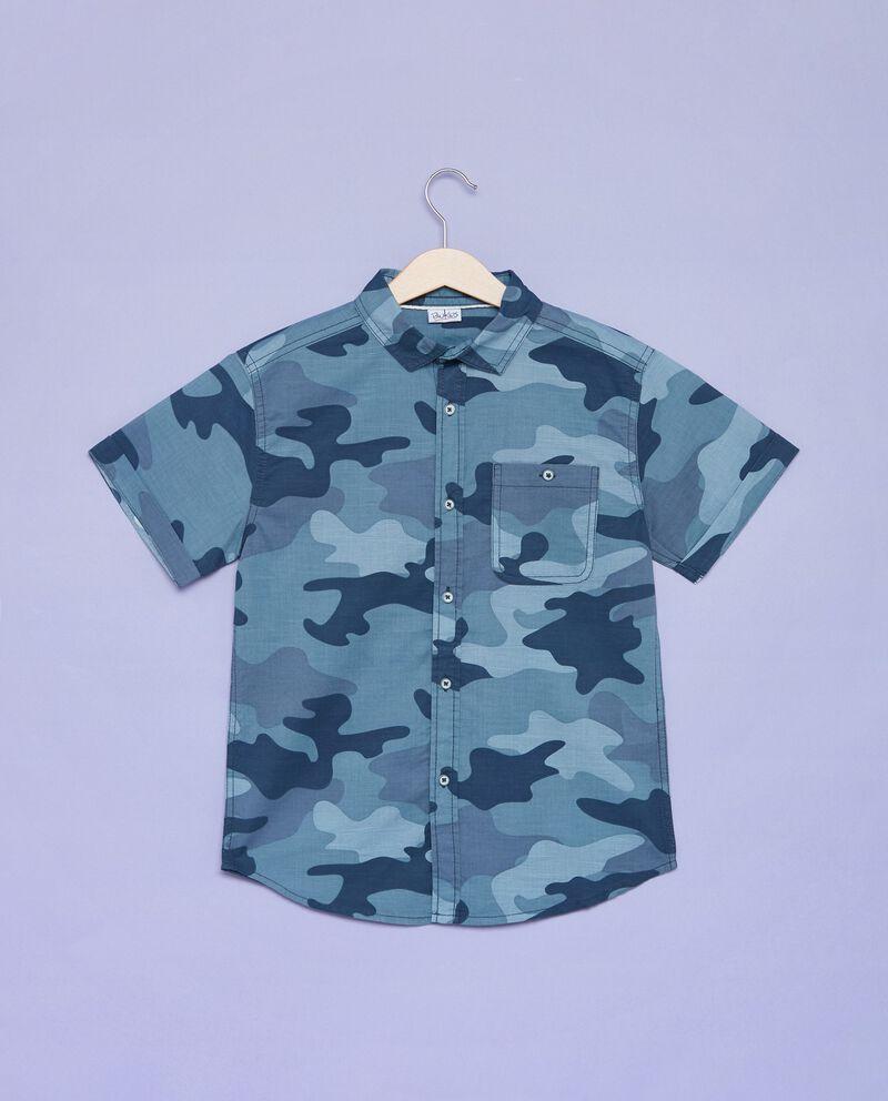 Camicia con fantasia militare ragazzo