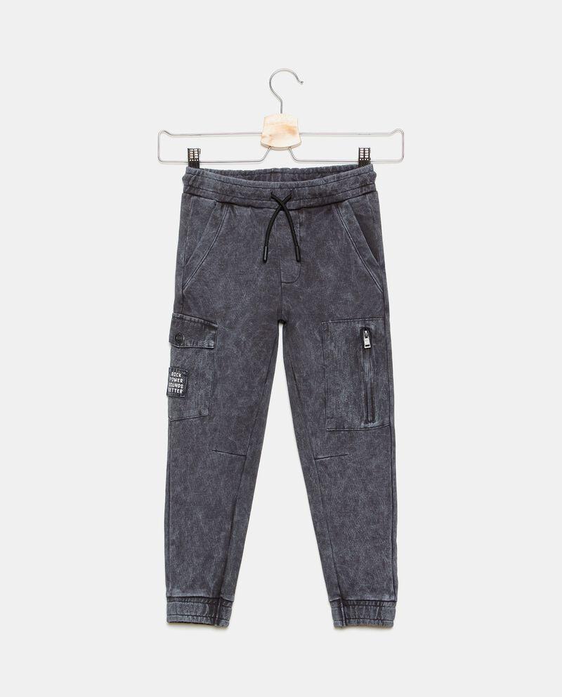 Pantalone cargo in cotone organico lavaggio stone bambino
