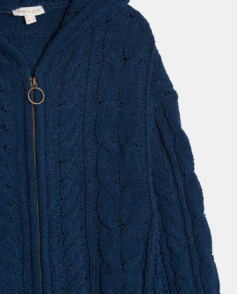 Cardigan tricot con cappuccio donna single tile 1