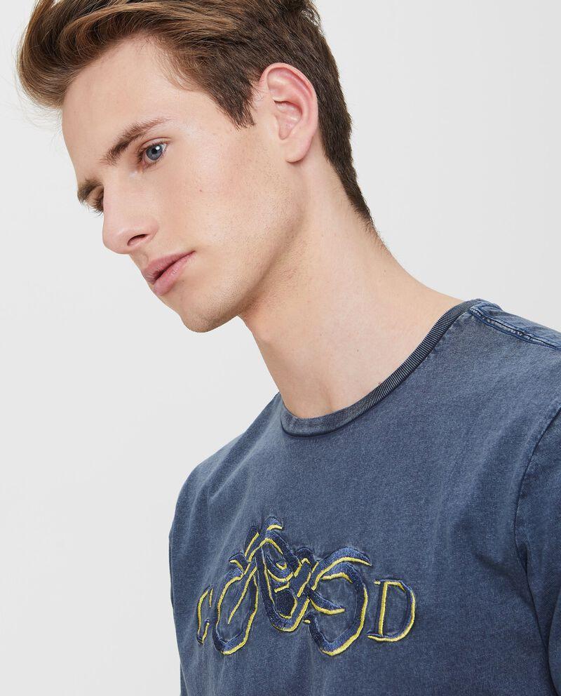 T-shirt in puro cotone effetto vintage