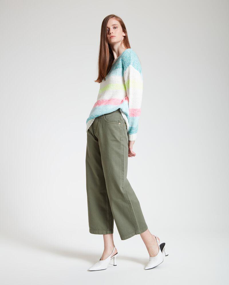 Pantaloni a palazzo in puro cotone donna