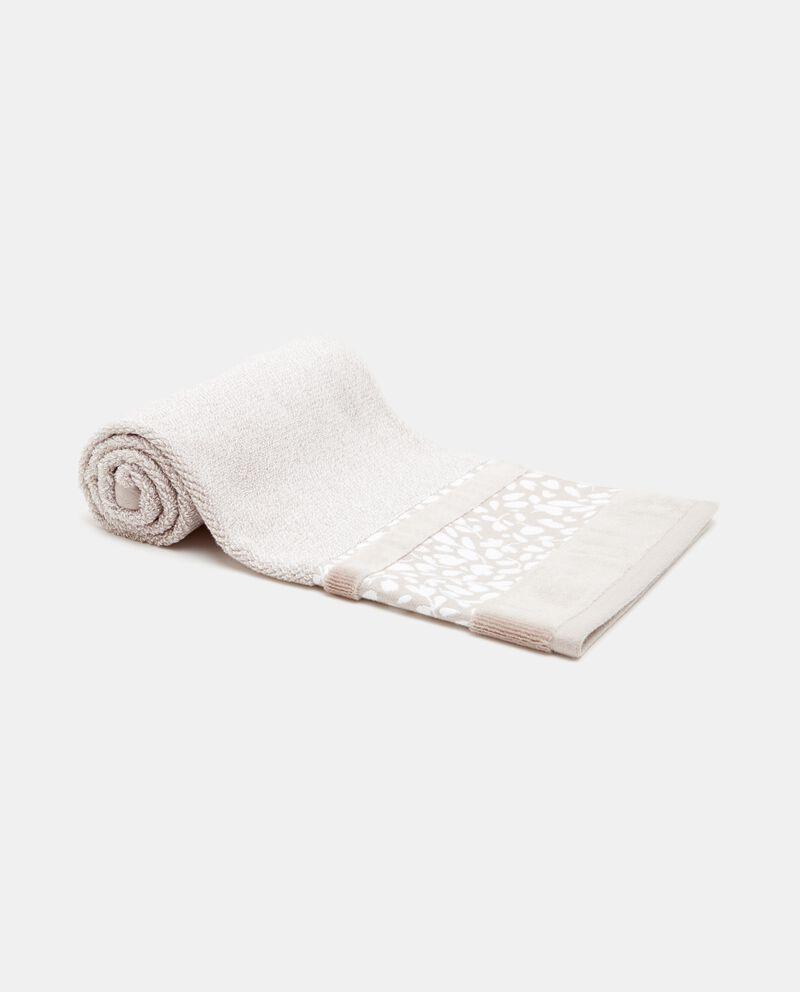 Asciugamano con bordo floreale puro cotone