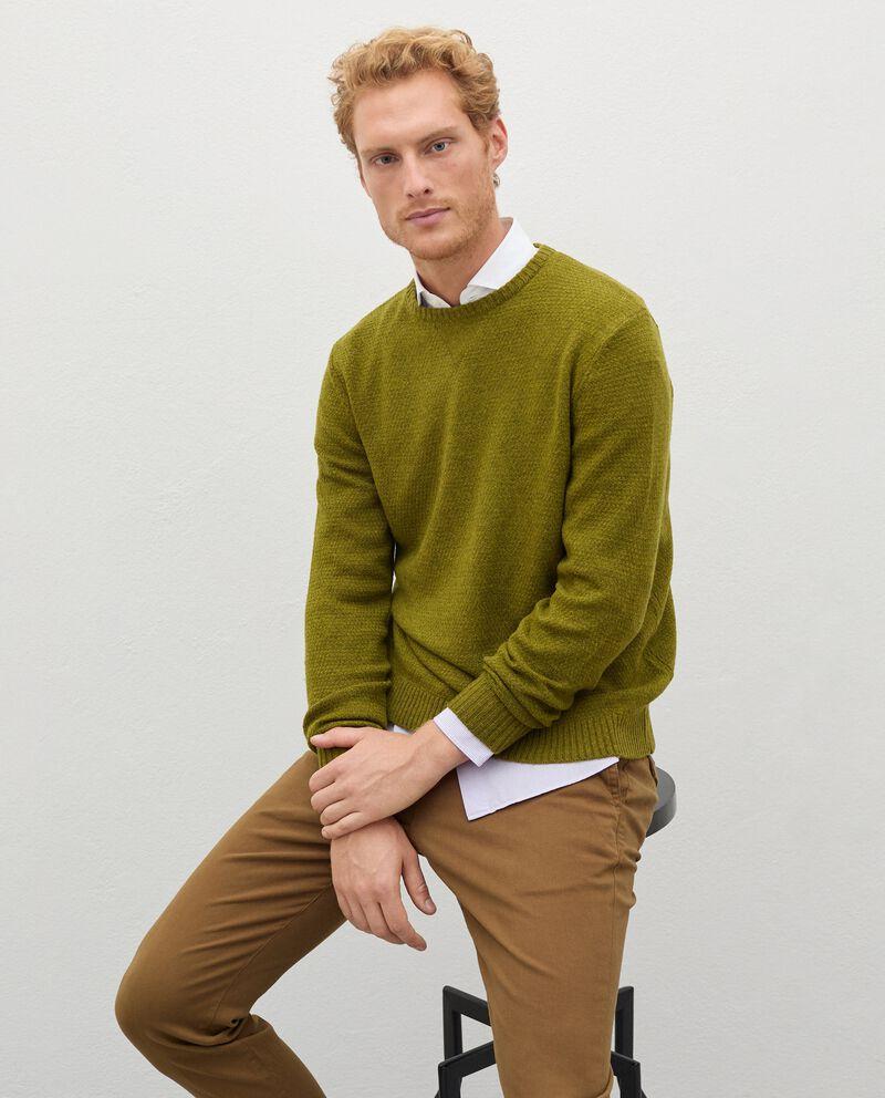 Pullover tricot in pura lana merino uomo cover