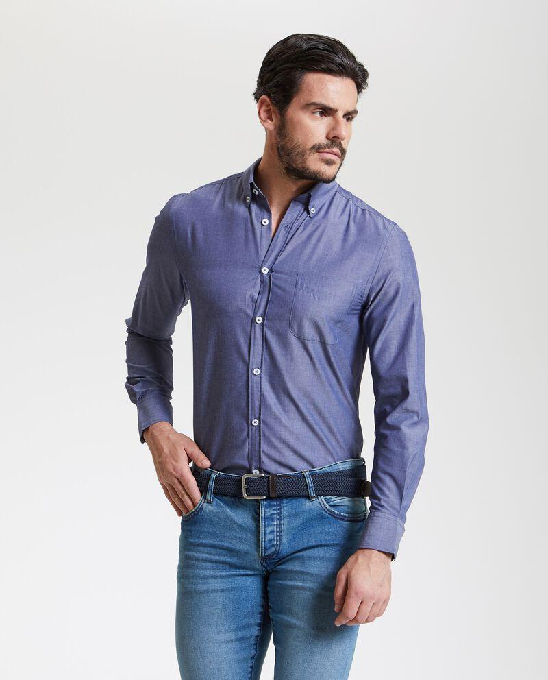 Camicia ad effetto denim uomo