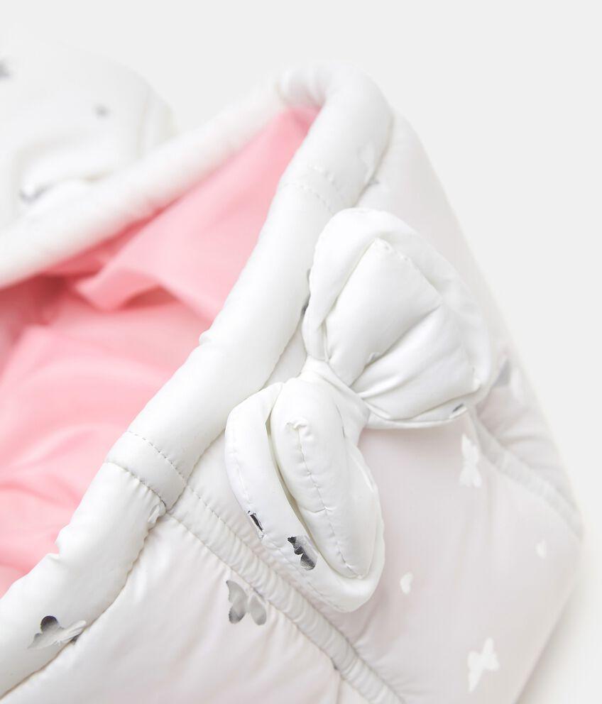 Piumino smanicato con stampa laminata neonata double 2