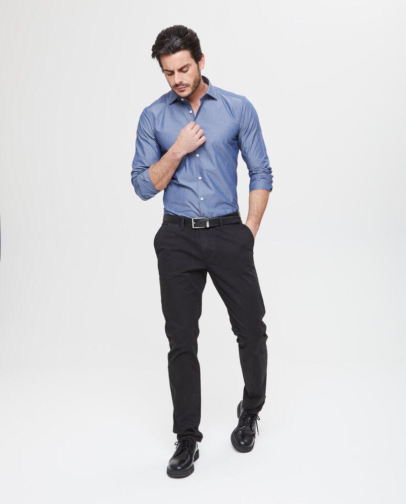 Pantaloni casual neri denim