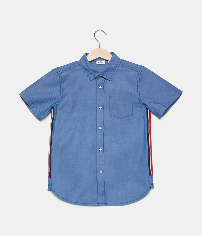 Camicia in puro cotone con bande bambino