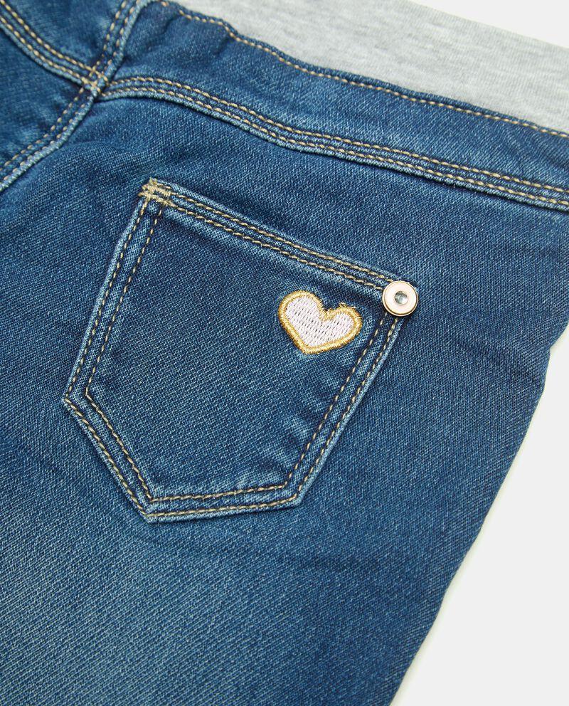 Pantalone in denim con strass neonata single tile 1