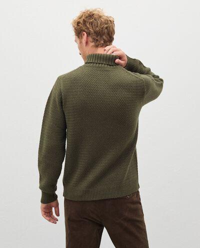 Maglione a collo alto in lana misto cashmere uomo detail 1