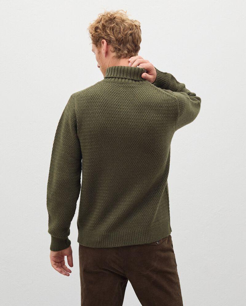 Maglione a collo alto in lana misto cashmere uomo single tile 1