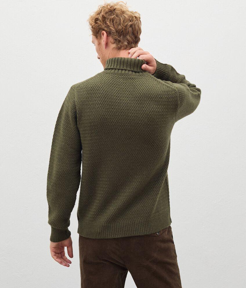 Maglione a collo alto in lana misto cashmere uomo double 2