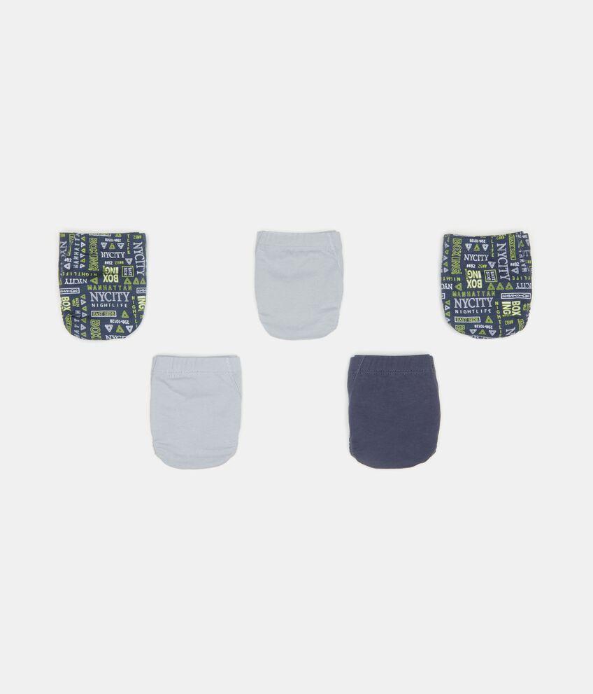 Five pack slip in puro cotone bambino