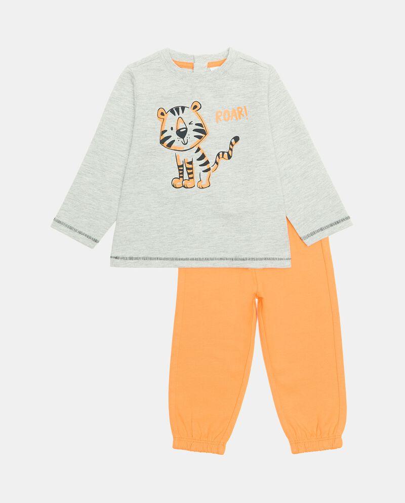 Jogging set con maglia e pantaloni in cotone organico neonato cover