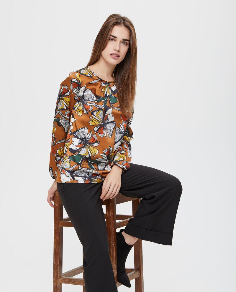 Blusa girocollo fantasia floreale