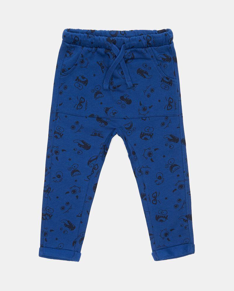Pantaloni in fantasia di puro cotone neonato