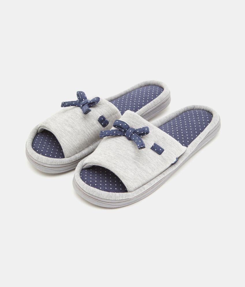 Pantofole con fiocchetti donna