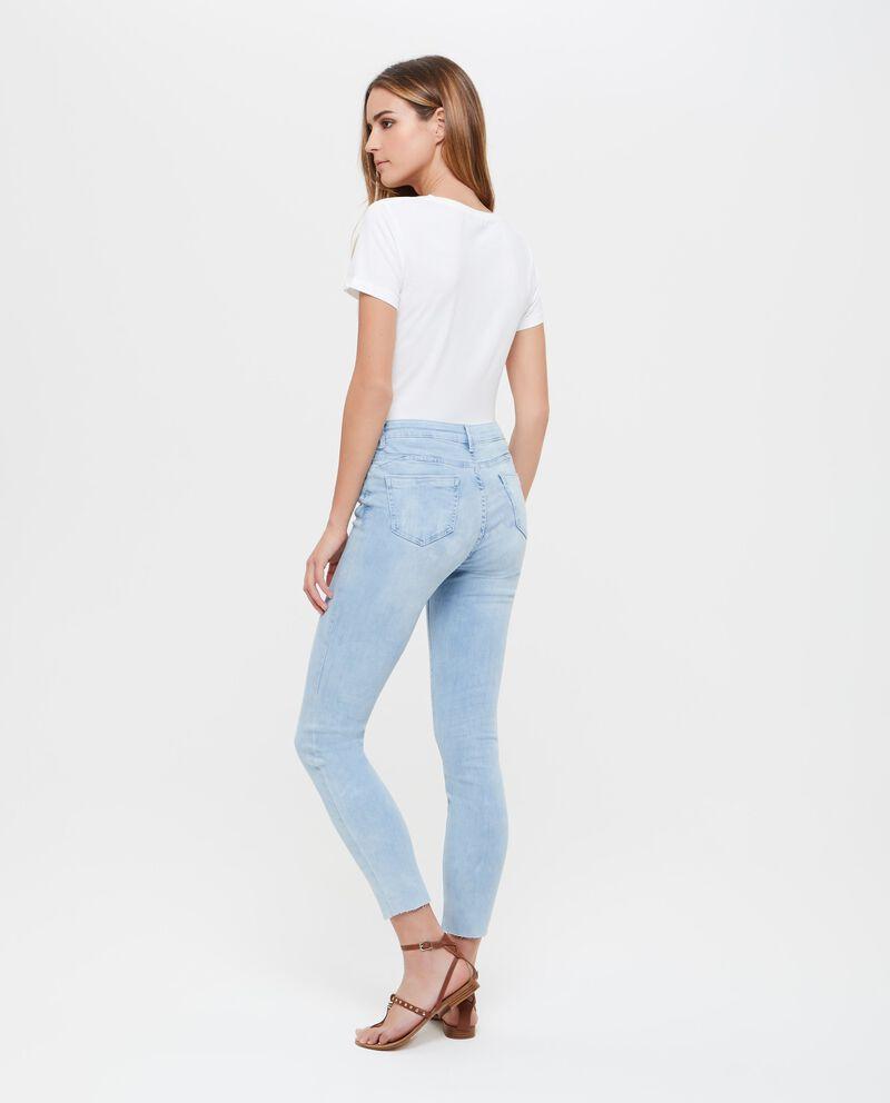 Jeans effetto vintage cinque tasche donna