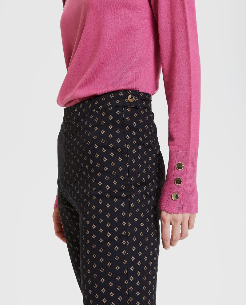 Jeggings eleganti con stampa all over donna