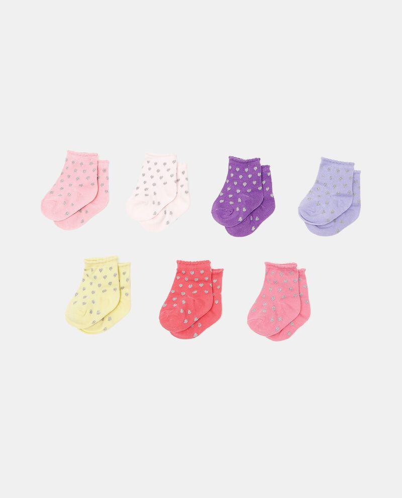 Set di 7 paia di calzini di cotone organico neonata cover
