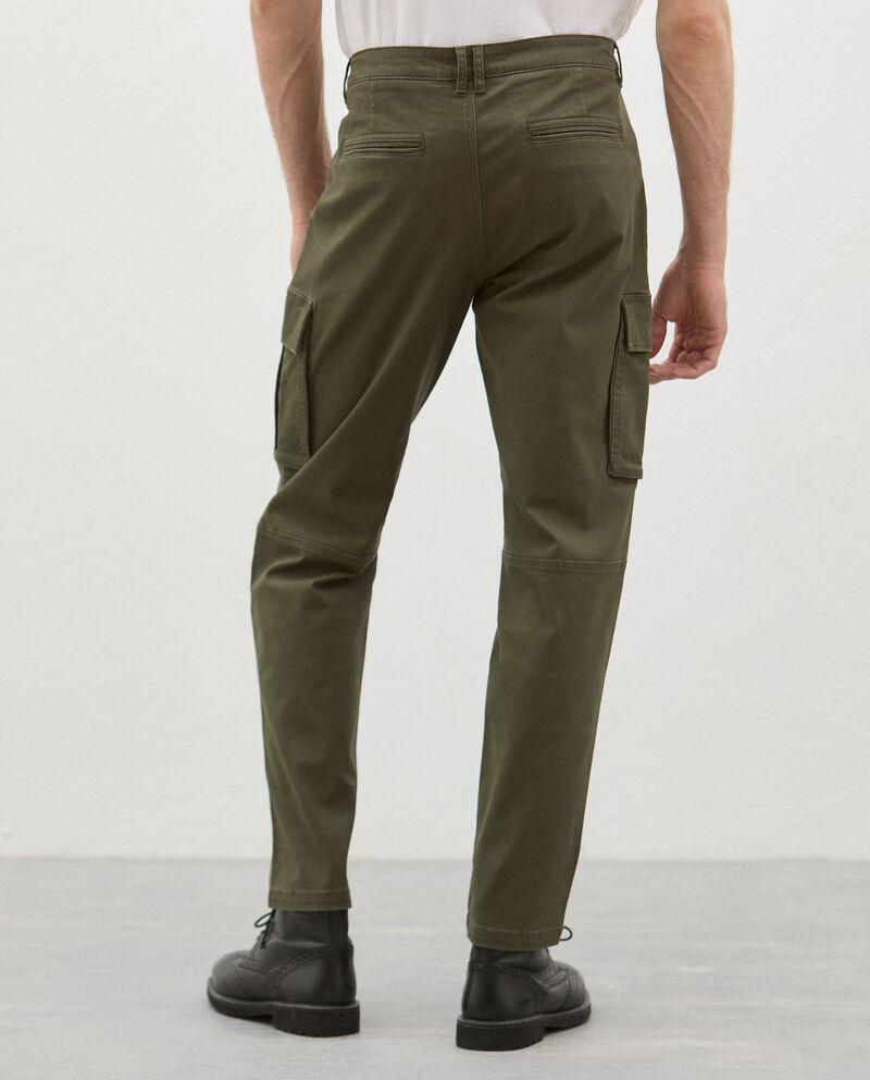 Pantaloni cargo in cotone stretch uomo single tile 1