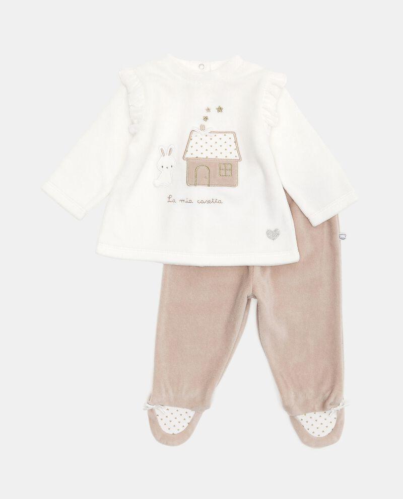 Set con maglia e pantaloni di cotone biologico cover