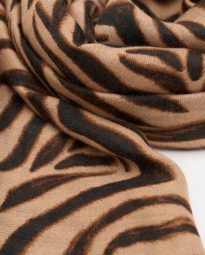 Sciarpa con stampa animalier zebrata donna detail 1