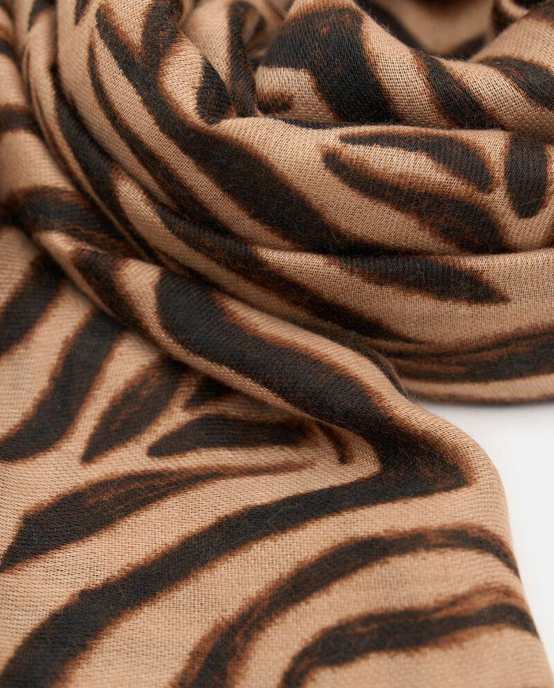 Sciarpa con stampa animalier zebrata donna single tile 1