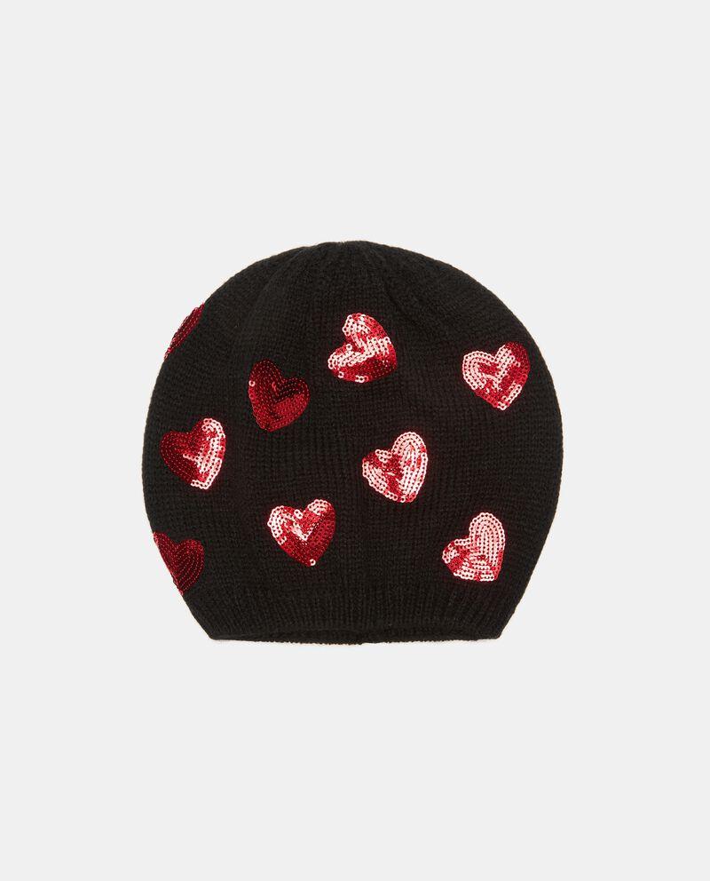 Cuffia tricot con paillettesdouble bordered 0