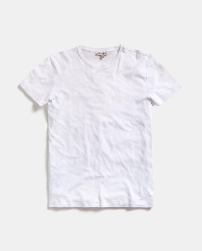 T-shirt in cotone misto lino uomo