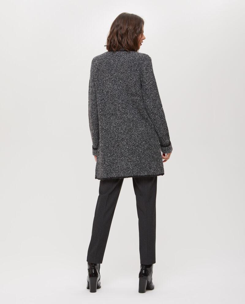 Cappotto stretch tricot a quadri