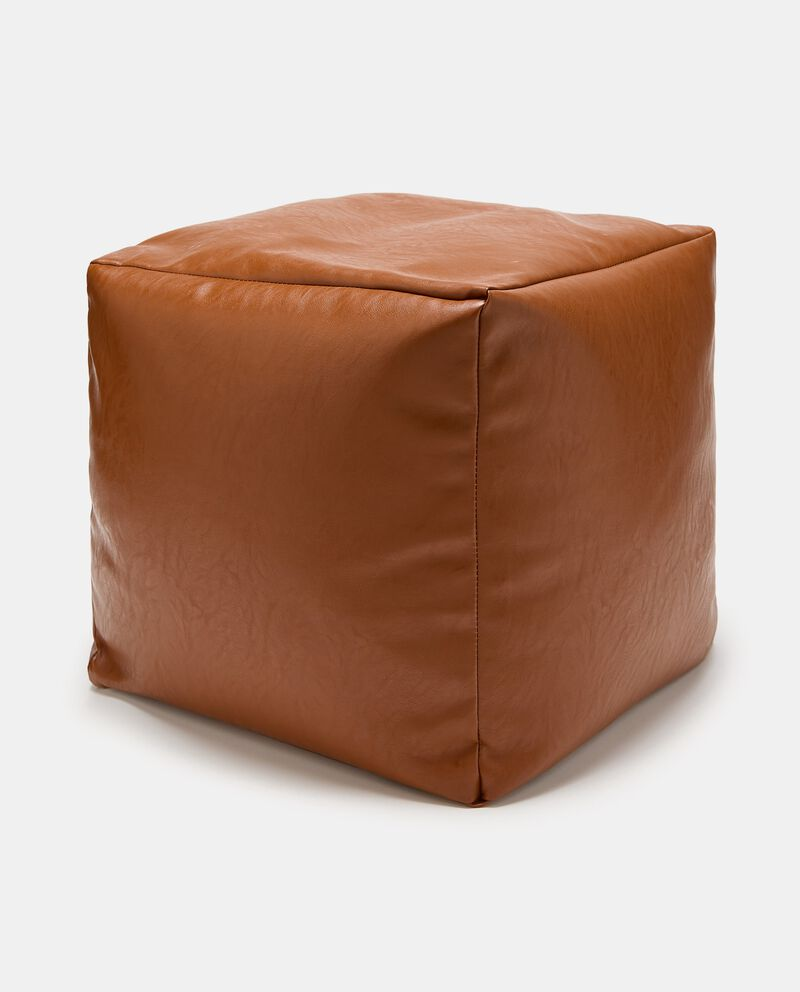 Pouf in ecopelle cover