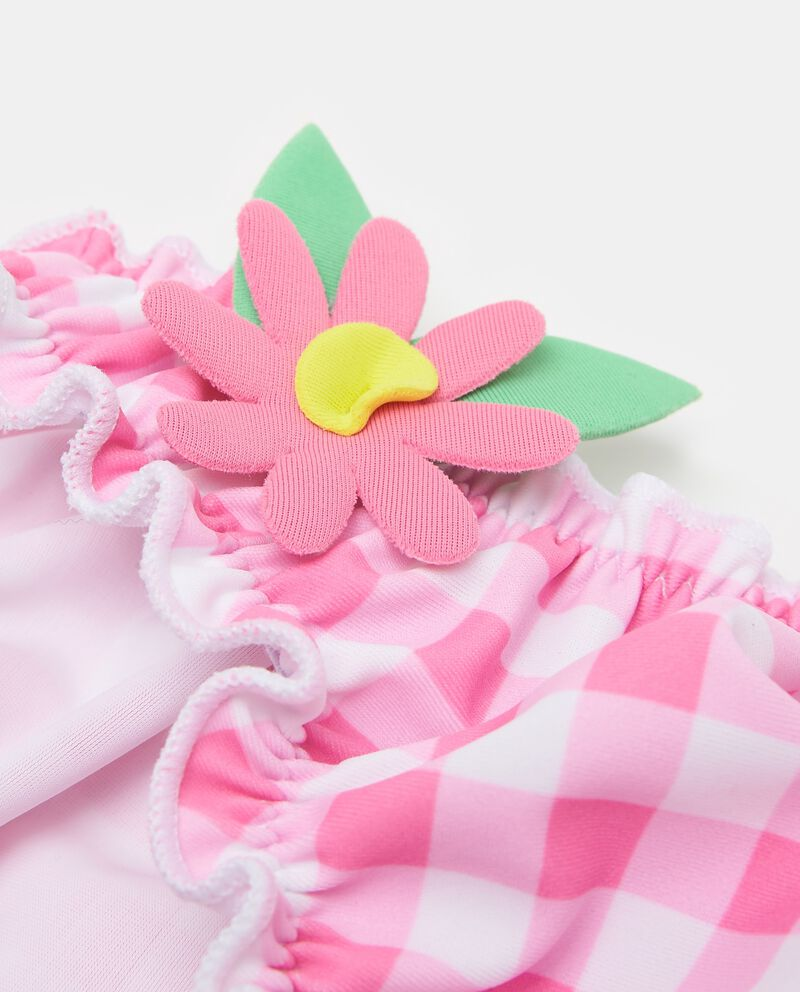 Slip mare stretch con fiori applicati