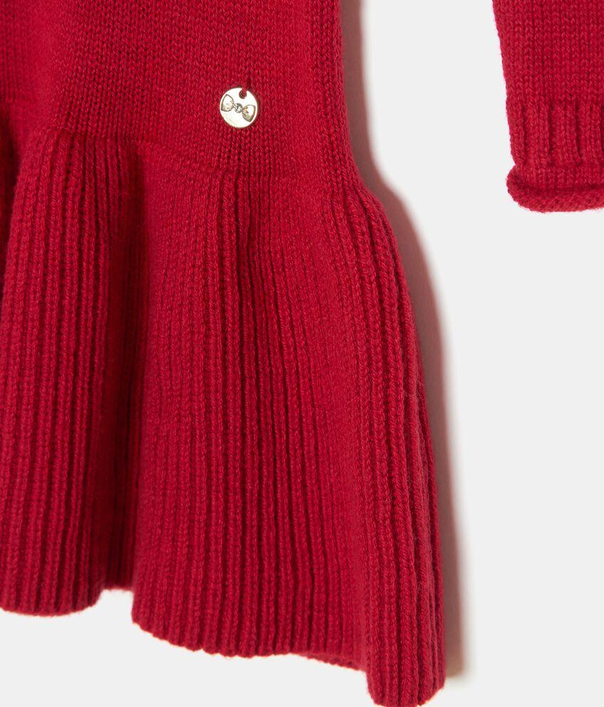 Vestitino in maglina con cuore in paillettes bambina