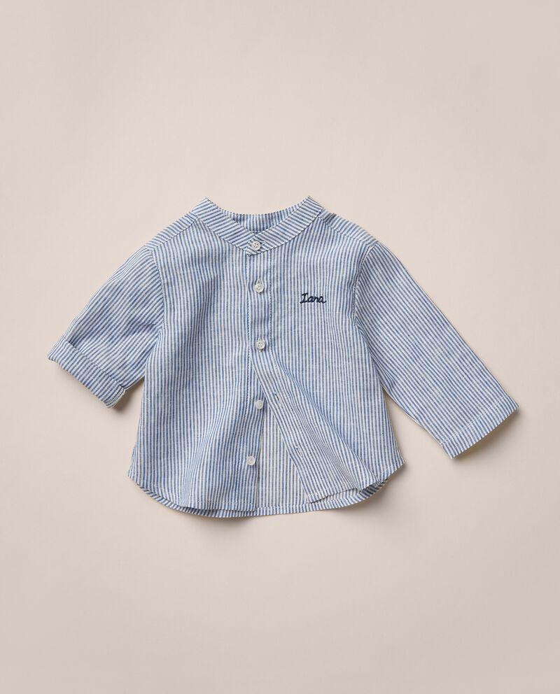 Camicia in misto lino rigata MADE IN ITALY cover